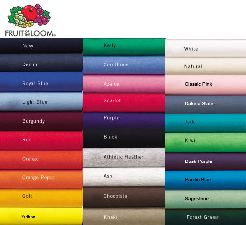 Fruit Of The Loom Colors